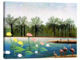Canvas  The Flamingos - Henri Rousseau