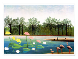 Premium poster  The flamingos - Henri Rousseau