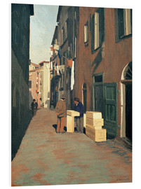 Foam board print  Old Street in Nice - Felix Edouard Vallotton