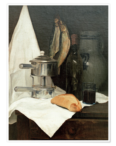 Premium poster Still Life with Herrings