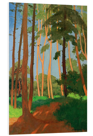 Foam board print  The Forest Clearing - Felix Edouard Vallotton