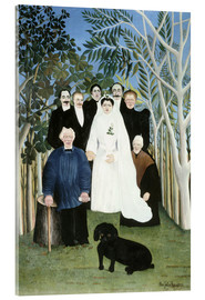 Acrylic print  Wedding in the countryside - Henri Rousseau