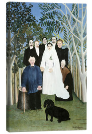 Canvas print  A wedding in the countryside - Henri Rousseau