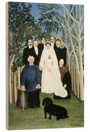 Wood print  A wedding in the countryside - Henri Rousseau