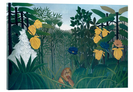 Acrylic glass  The meal of the lion - Henri Rousseau