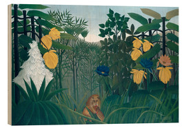 Wood  The meal of the lion - Henri Rousseau