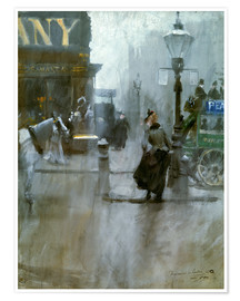 Premium poster  Impressions from London - Anders Leonard Zorn