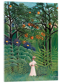 Acrylic print  Woman in an exotic forest - Henri Rousseau
