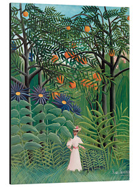 Aluminium print  Woman in an exotic forest - Henri Rousseau