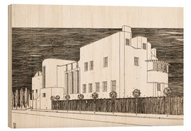 Wood print  House of an art lover - Charles Rennie Mackintosh