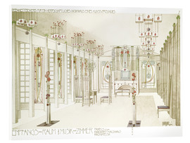 Acrylic print  Salon and music room - Charles Rennie Mackintosh