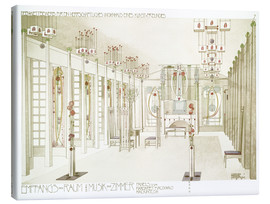 Canvas print  Salon and music room - Charles Rennie Mackintosh