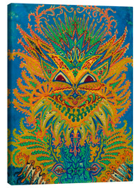 Canvas print  Kaleidoscope Cats: Cats pattern on blue - Louis Wain