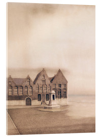 Acrylic print  The abandoned town - Fernand Khnopff