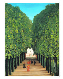 Premium poster  The avenue in the park in Saint-Cloud - Henri Rousseau