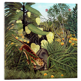 Acrylic print  Combat of Tiger and Buffalo - Henri Rousseau