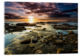 Acrylic glass  Sunrise Lake Malawi Africa - Thomas Hagenau