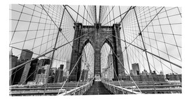 Acrylic print  NYC: Brooklyn Bridge (monochrome) - Sascha Kilmer