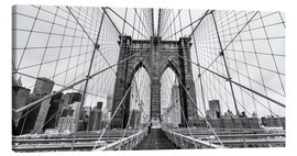 Canvas print  NYC: Brooklyn Bridge (monochrome) - Sascha Kilmer