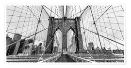 Premium poster  NYC: Brooklyn Bridge (monochrome) - Sascha Kilmer