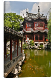 Canvas  Shanghai, China Yu Garden and oriental styled buildings. - Darrell Gulin