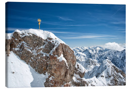 Canvas print  Snowy peak of the Zugspitze - Sheila Haddad
