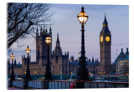 Acrylic glass  Houses of Parliament and Big Ben - Walter Bibikow