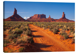 Canvas print  Red Monument Valley - David Wall