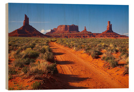 Wood print  Red Monument Valley - David Wall