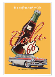 Premium poster Cola 66 Advertising