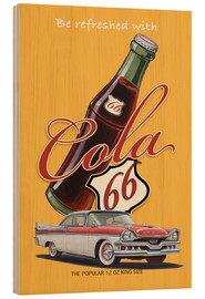 Wood print  Cola 66 Advertising - Georg Huber