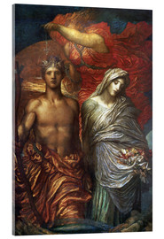 Acrylic glass  Time Death and Judgement  - George Frederic Watts