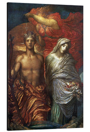 Aluminium print  Time Death and Judgement - George Frederic Watts