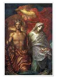 Premium poster  Time Death and Judgement  - George Frederic Watts