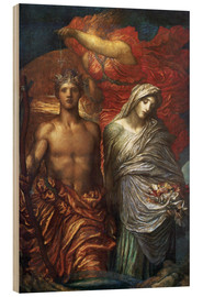 Wood print  Time Death and Judgement - George Frederic Watts