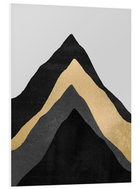 Foam board print  Four Mountains - Elisabeth Fredriksson