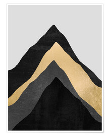 Poster  Four Mountains - Elisabeth Fredriksson