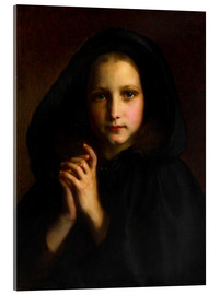 Acrylic print  Girl with a cape - Etienne Adolphe Piot