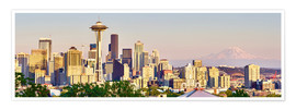 Premium poster Seattle Skyline II