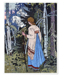 Premium poster  Vassilisa the Beautiful - Ivan Jakovlevich Bilibin