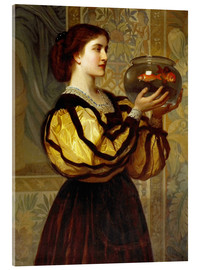 Acrylic print  The Goldfish Bowl - Charles Edward Perugini