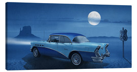 Canvas print  Blue night on Route 66 - Monika Jüngling