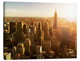 Canvas print  Manhattan skyline in NY at sunset - Jan Christopher Becke