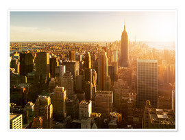 Premium poster  Manhattan skyline in NY at sunset - Jan Christopher Becke