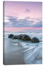 Canvas print  Moeraki boulders, New Zealand - Matteo Colombo
