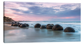 Canvas  Moeraki boulders, New Zealand - Matteo Colombo