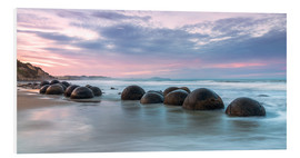 Foam board print  Moeraki boulders, New Zealand - Matteo Colombo