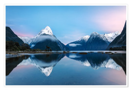 Premium poster  Milford Sound, New Zealand - Matteo Colombo