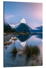 Aluminium print  Landscape: sunrise at Milford Sound, Fjordland National park, New Zealand - Matteo Colombo