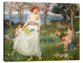 Canvas print  The spring field - John William Waterhouse
